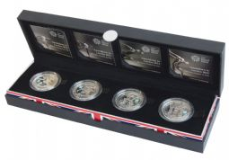 2009 - 2012 Countdown to the Oolympics Piedfort Silver Proof £5 Coin Set for sale